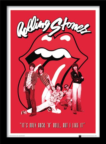 Pyramid International FP11015P-PL - Stampa artistica con cornice, Rolling Stones - It's Only Rock n Roll