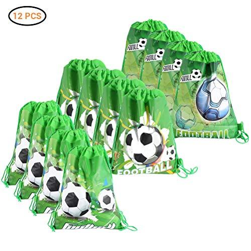 BSTOPSEL - 12 Mochilas de fútbol con cordón para niños