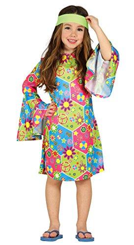 Kostüm Express Mädchen - Guirca 85607 Kinderkostüm Hippie Blumen für Mädchen 5-6 Jahre