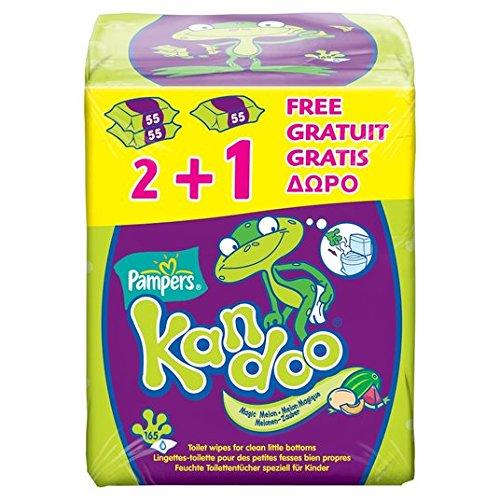 6 x 55 St/ück Kandoo Melone Feuchtt/ücher 6er Pack