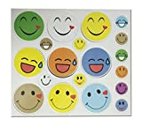 #6: Jiada Emoji Smiley Foam Magnet Sticker | Multicolour