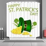 VANCAR Happy St. Patrick' S Day Bagno Tenda da Doccia in Poliestere Impermeabile Doccia Tenda per San Patrizio