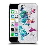 Head Case Designs Officiel Nature Magick Continents Rose Sarcelle Carte du Monde sur Marbre Coque en Gel Doux Compatible avec iPhone 5c