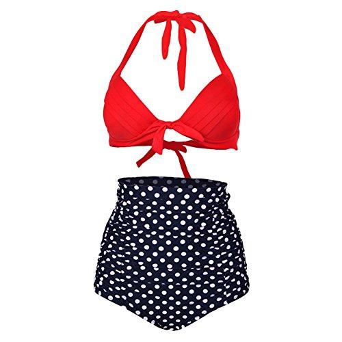 DELEY Mujeres Push Up Braga Alta Floral Bikini Talla