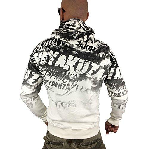 Yakuza Uomo Felpa con cappuccio Crow Bianco