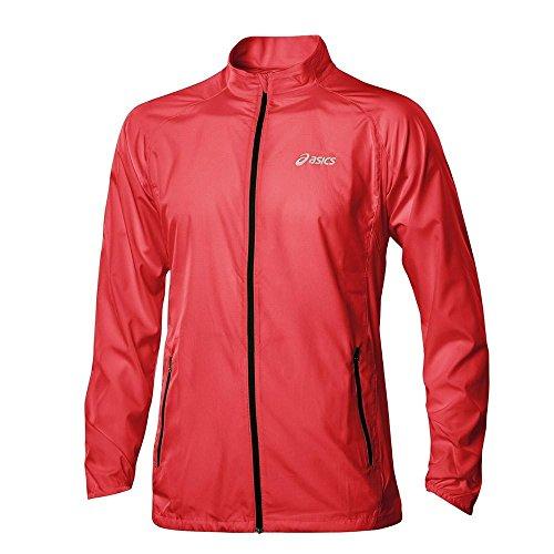 Asics Men's Woven Jacket Mehrfarbig - rot / weiß