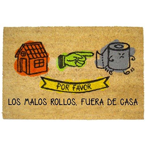 Felpudos Originales con Diseño Malos Rollos, PVC, Coco, 60 x 40 cm