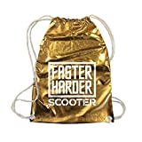 SCOOTER - Faster , Harder , Scooter - Gold - Turnbeutel / Rucksack / Gymbag