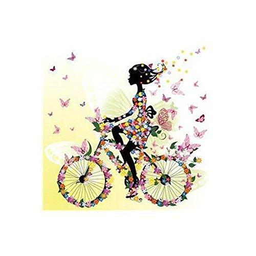 MINRAN DECOR- Image sur toile D75121-2 Art Print , Elfes des fleurs, filles, - prete a suspendre - - Tableaux pour la mur - motif moderne - Décoration , 10 , 30x30cm