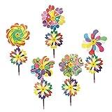 Baoblaze 5 Stück Windrad Blume Windmühle Windrad Kinder Spielzeug Rasen Dekoration - B