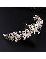&zhou Tocado nupcial de la joyería del pelo a mano los accesorios 29 * 4cm del vestido de boda