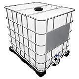 REKUBIK 1000l IBC Container auf Kunststoffpalette Deckelgröße DN 150, Armaturgröße S60x6 Grobgewinde