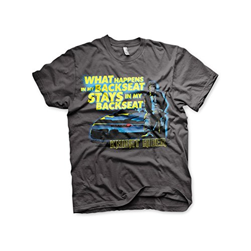 Officially Licensed Merchandise Knight Rider - Backseat T-Shirt (D.Grey)