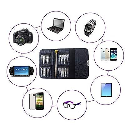 Mini Destornilladores,Juego de Destornilladores,Juego de Herramientas Destornillador Kit de Reparación con Estuche para Smartphone,PC,Talleres Electrónicos,Gafas