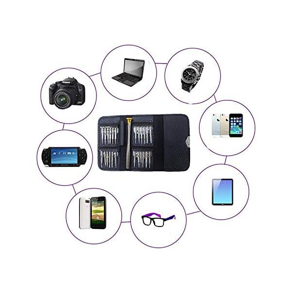25 en 1 Destornilladores Precisión,Juego de Destornilladores,Herramientas Desmontar Kit de Reparación para Smartphone,PC, Xbox,Cámara,Reloj,Tablet PC,Gafas