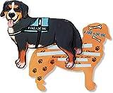 6 Einladungskarten * HUNDE * in Hundeform gestanzt für einen Kindergeburtstag oder Party von DH-Konzept // Kinder Geburtstag Party Einladung Einladungen Karten Mottoparty Dog