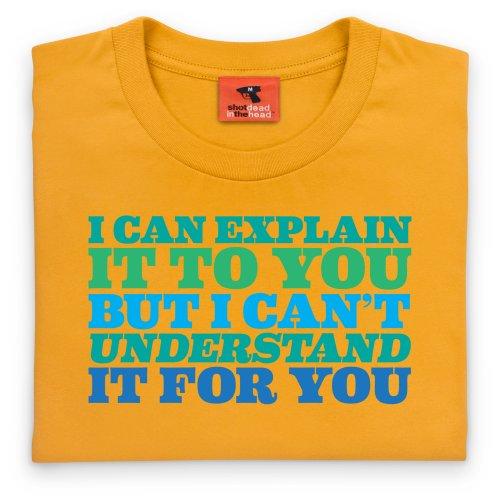 Explain T-Shirt, Herren Gelb