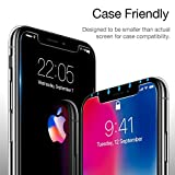[2-Pack] iPhone X Screen Protector, [Face ID Compatible], [Lifetime Warranty], [Case Friendly] ESR Premium Tempered Glass Screen Protector for iPhone X 5.8-inch