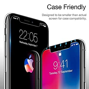 2-Pack-iPhone-X-Screen-Protector-Easy-Installation-Frame-Face-ID-Compatible-ESR-Premium-Tempered-Glass-Screen-Protector-for-iPhone-X-58-inch