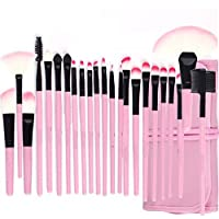 Foolzy Brush Book Makeup Brush Collection, Pink, 24 Pieces