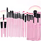 #10: Foolzy Brush Book Makeup Brush Collection, Pink, 24 Pieces