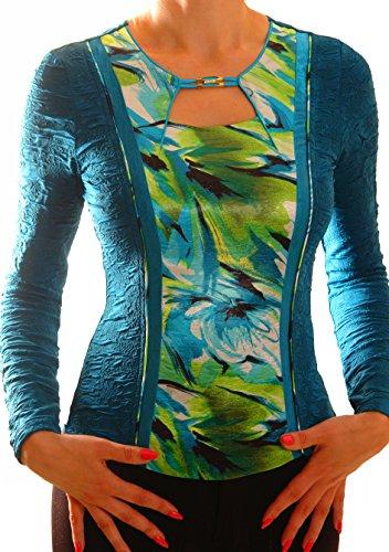 Poshtops -  Maglia a manica lunga  - Donna Dark turquoise