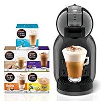 ‏‪Nescafe Dolce Gusto Mini Me Coffee Machine, Black + 5 Capsule Boxes (80 Capsules)‬‏