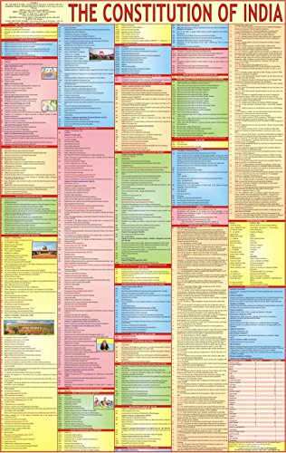 Constitution Of India Chart – LAMINATED | ENGLISH | Extremely useful for UPSC, LAW, Judiciary and other competitive…