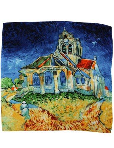 Collection-schal Aus Seide (Dahlia Damen Schal aus 100% Seide, lang, Van Gogh's Art Collection - Blau - Einheitsgröße)