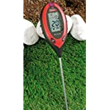 Digital 4en 1Dispositivo de análisis [suelo Tester] nevera suelo medidor [Humedad, PH]
