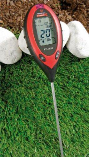 Digitales 4 in 1 Bodenanalyse Gerät [Bodentester] Kombi-Bodenmessgerät [Feuchtigkeit, PH-Wert]