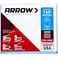 "Arrow A508IP Staples, T50, 1/2"", 12 mm (Pack of 5000)"