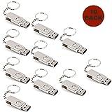 A Plus+ 10 Piezas Estilo Sencillo Memoria USB de 32GB con llavero Personalizadas Regalos de Empresa