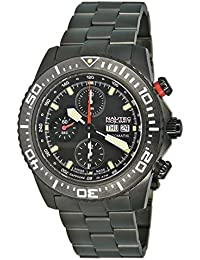 Nautec No Limit Herren-Armbanduhr XL Masterpiece Collection Chronograph Automatik Edelstahl beschichtet H5