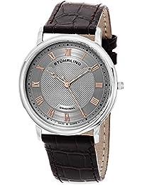 Stührling Original 645.02 - Reloj analógico para hombre, correa de cuero, color marrón