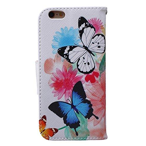 Fall, Kunstleder, sonnenblume, iPhone 7 Plus Two Butterfly