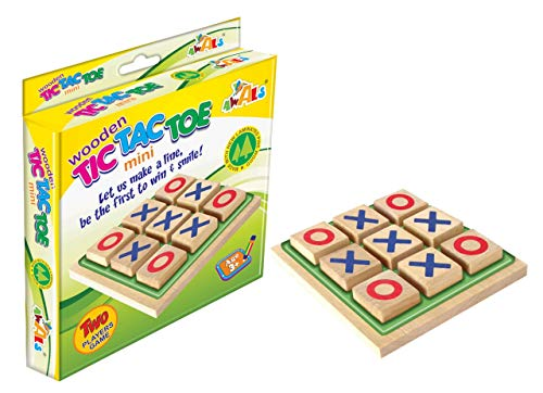 Universal Wooden Tic Tac Toe Mini Indoor Game for Kids / Teens / Adults