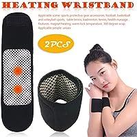 Gorgebuy 2 Pulseras de Calentamiento Pack - 1 par de brazaletes Deportivos cálidos - brazaletes de Auto-calefacción con imán de esporas de Health Care