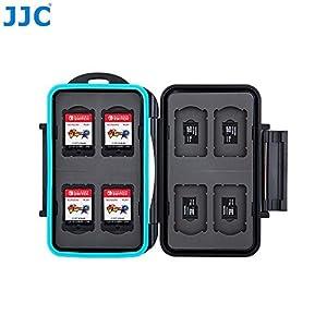 JJC passt Karte Fall Nintendo Schalter Game Card SD- und Micro-SD-Speicherkarten