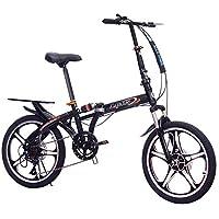 LIDONG - Bicicleta Plegable portátil de 20 Pulgadas para Estudiantes y Estudiantes, ...