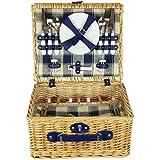 ZQ1 – 2699 cesta de Pícnic de mimbre para 4 personas con enfriador