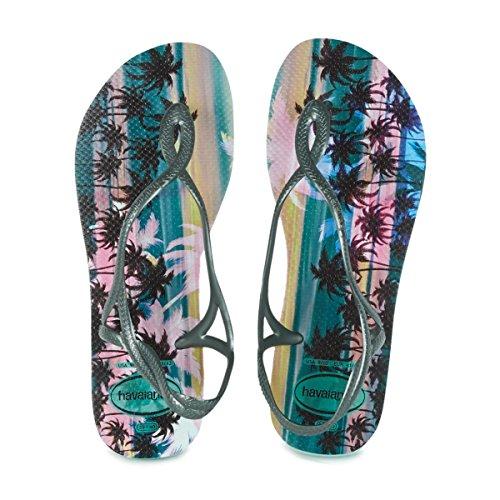 Havaianas Sandalen Damen Luna Stampa Mentha Verde