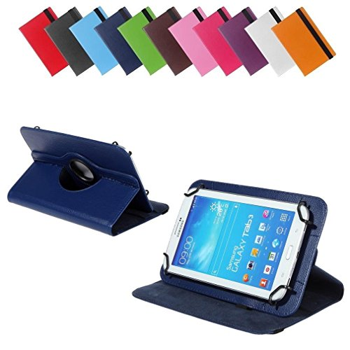 BRALEXX Universal 360° Tablet Tasche passend für Blaupunkt Polaris 808, 7 Zoll, Blau