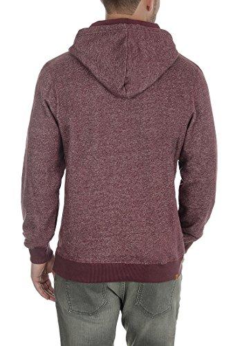 BLEND Morance Herren Kapuzenpullover Hoodie Sweatshirt aus hochwertiger Baumwollmischung Wine Red