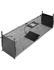 Leopet - Trampa de acero con asa para transporte - para animales pequeños (ratón, conejo y otras) - aprox. 99,2/24/28 cm
