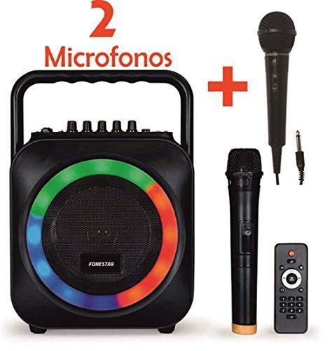 KARAOKE PORTATIL CON MICROFONO USB/SD/MP3 BOX-35LE CON 1 MICROFONO...