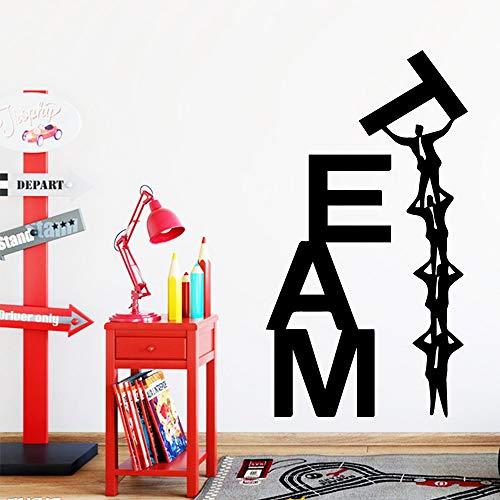 HNXDP Team Quote Wasserdichte Wandaufkleber Kunstdekor Dekoration Wohnzimmer Schlafzimmer Abnehmbare Abnehmbare Wandtattoos Gelb M 30 cm X 54 cm