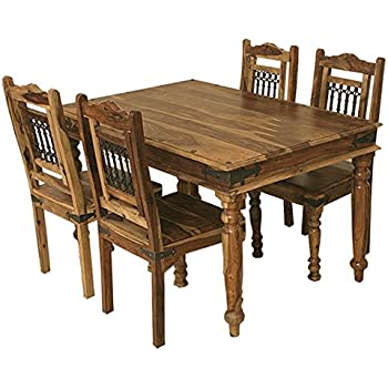 Jali Solid Sheesham Indian Rosewood 135 CM Dining Table ONLY Room Furniture