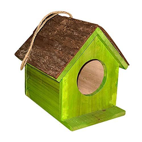 Vogelhaus Außen Holz Handwerk DIY Schwalben Wandbehang Nest Langlebig Garten Breeding Box 3D Decoration Papagei