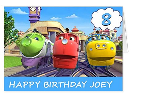 Image of Chuggington personalised birthday card